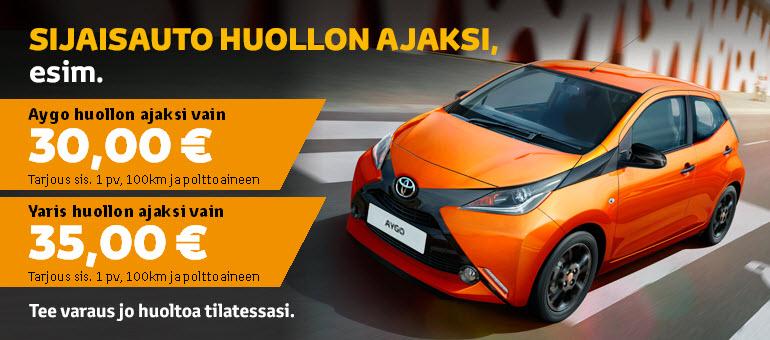 Toyota määräaikaishuolto tarjous