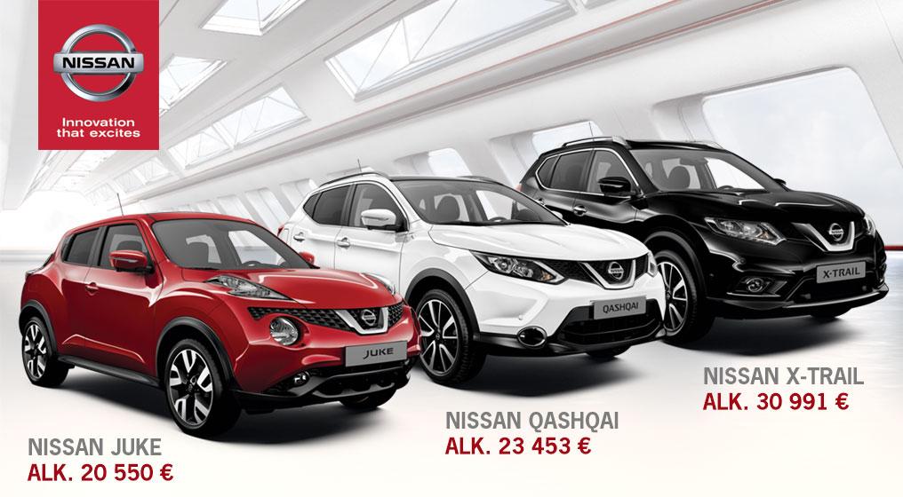 Nyt Nissanilla kevyet kesähinnat!
