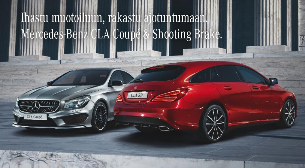 Ihastu muotoiluun, rakastu ajotuntumaan. Nyt CLA Coupe ja Shooting Brake, automaattivaihteisto 0€