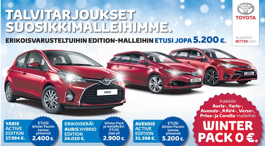 Toyotan talvitarjoukset Etelä-Savon Autosta!