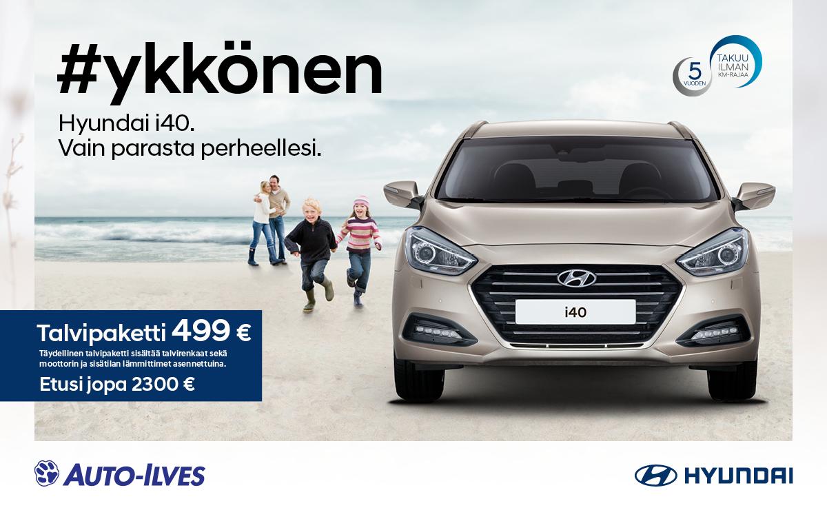 Hyundai i40 Vain parasta perheellesi