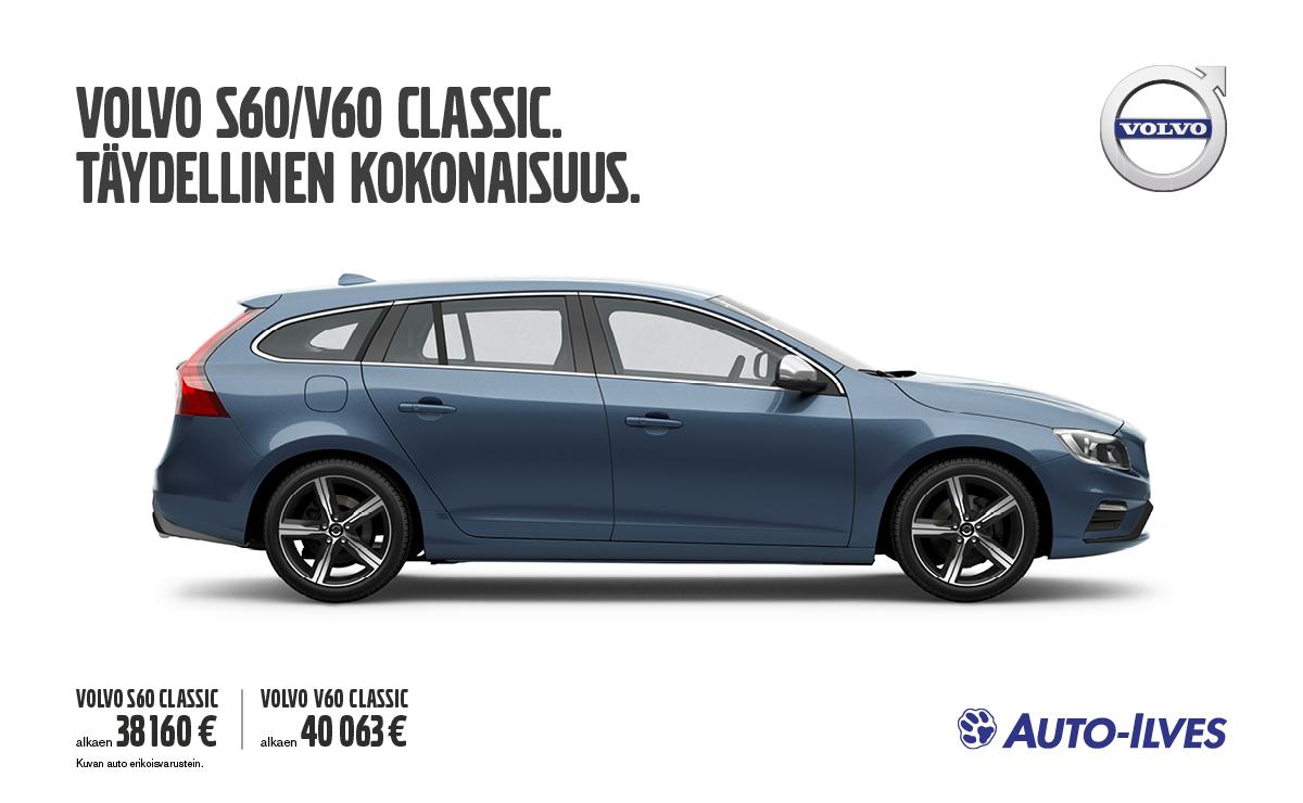 Volvo S60 ja V60 Classic - täydellinen kokonaisuus
