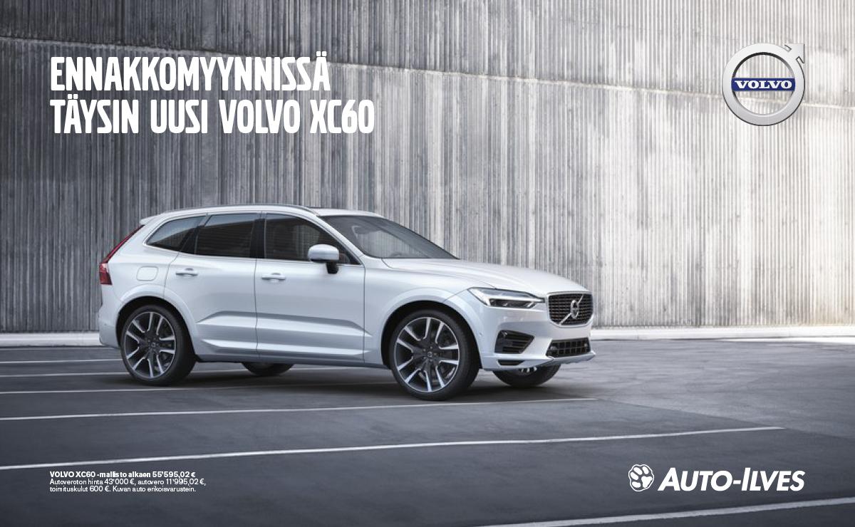 Ennakkomyynnissä täysin uusi Volvo XC60