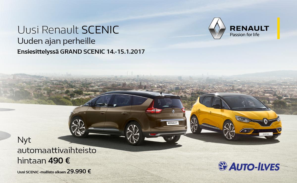 Uusi Renault SCENIC ensiesittelyssä 14.-15.1.2017