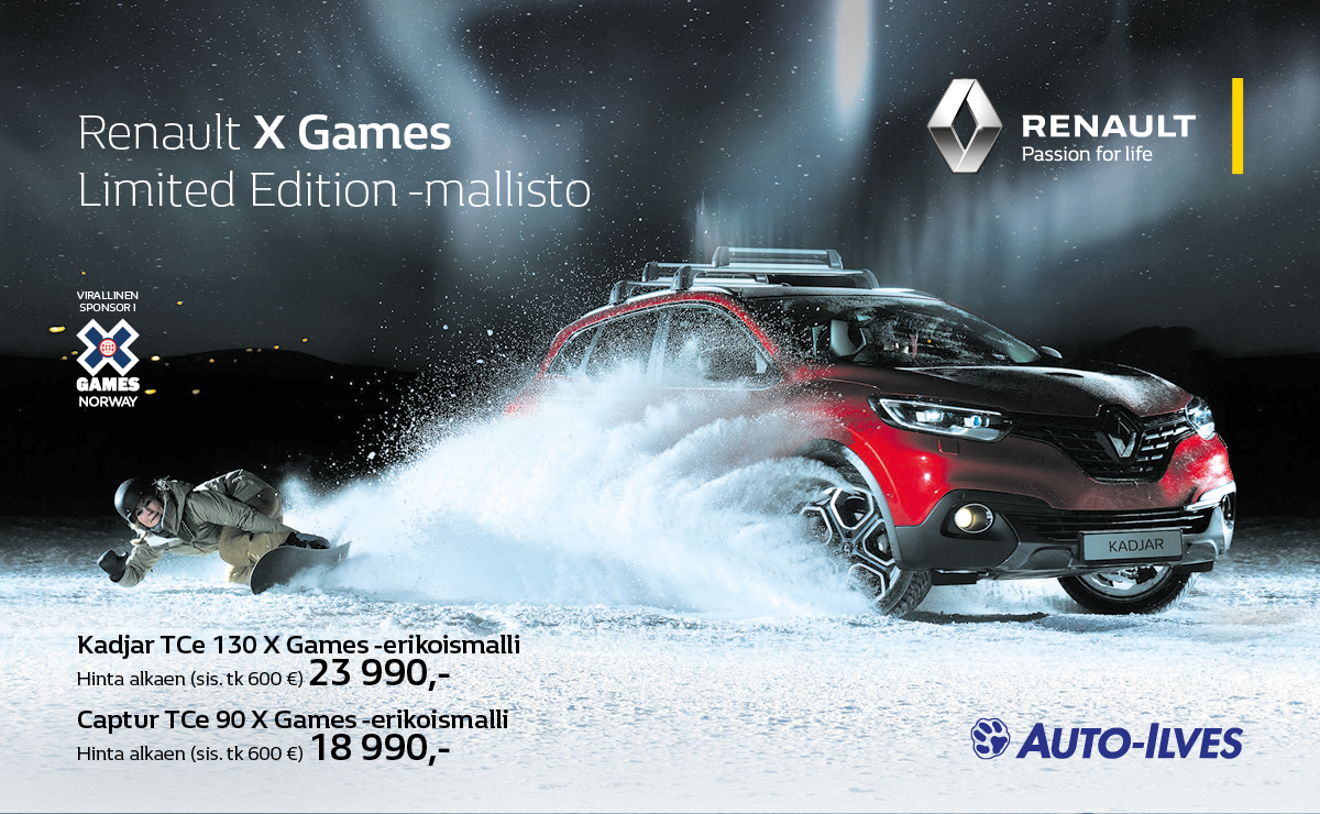 Renault X Games Limited Edition -mallisto