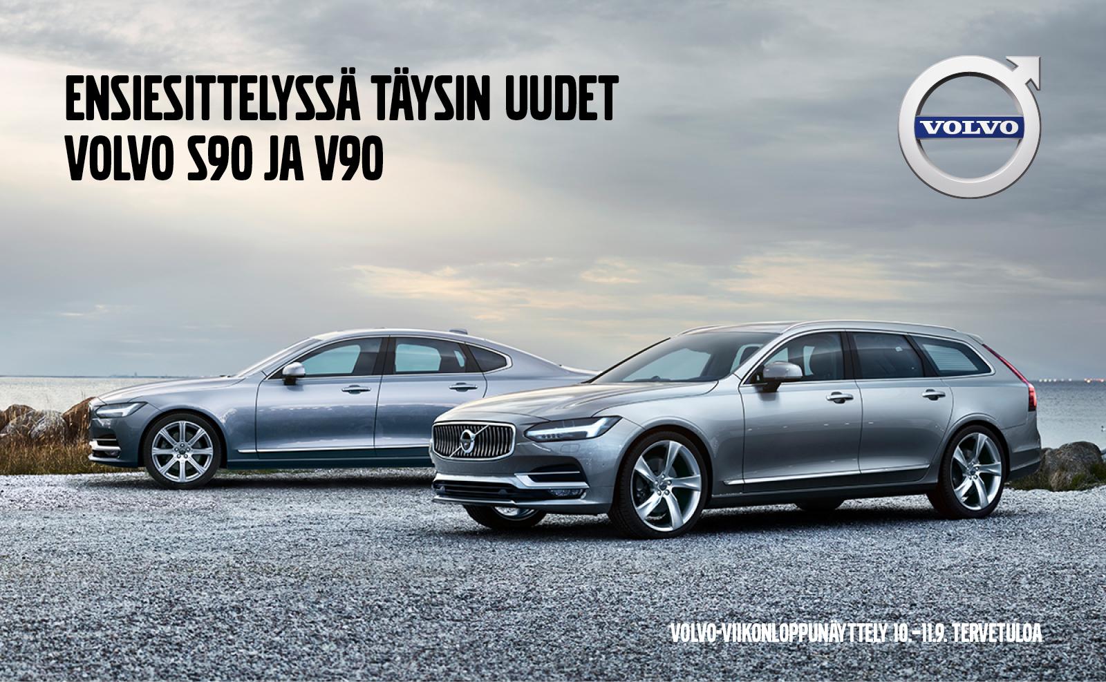 Ensiesittelyssä Täysin uudet Volvo S90 ja V90