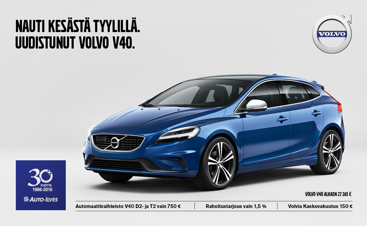 Uudistunut Volvo V40