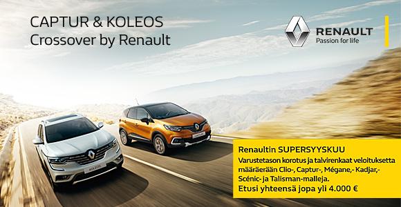Renault Captur ja Koleos - Uudet katumaasturit Auto-Ilveksessä