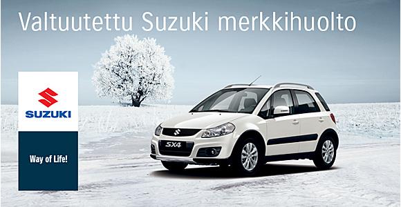 Valtuutettu Suzuki -huoltoliike palvelee sinua ammattitaidolla