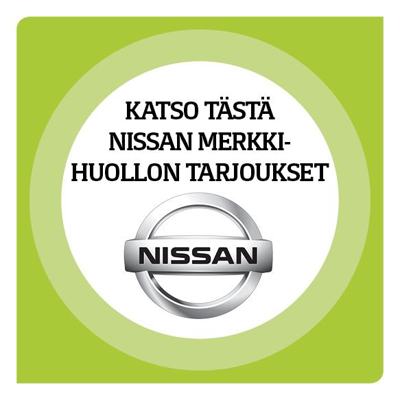 Nissan merkkihuollon tarjoukset
