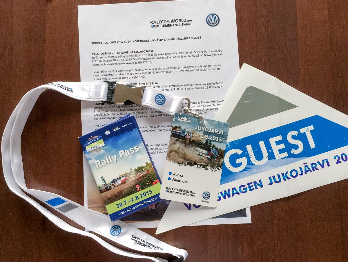 Volkswagenin vieraana Jyväskylän MM-rallissa