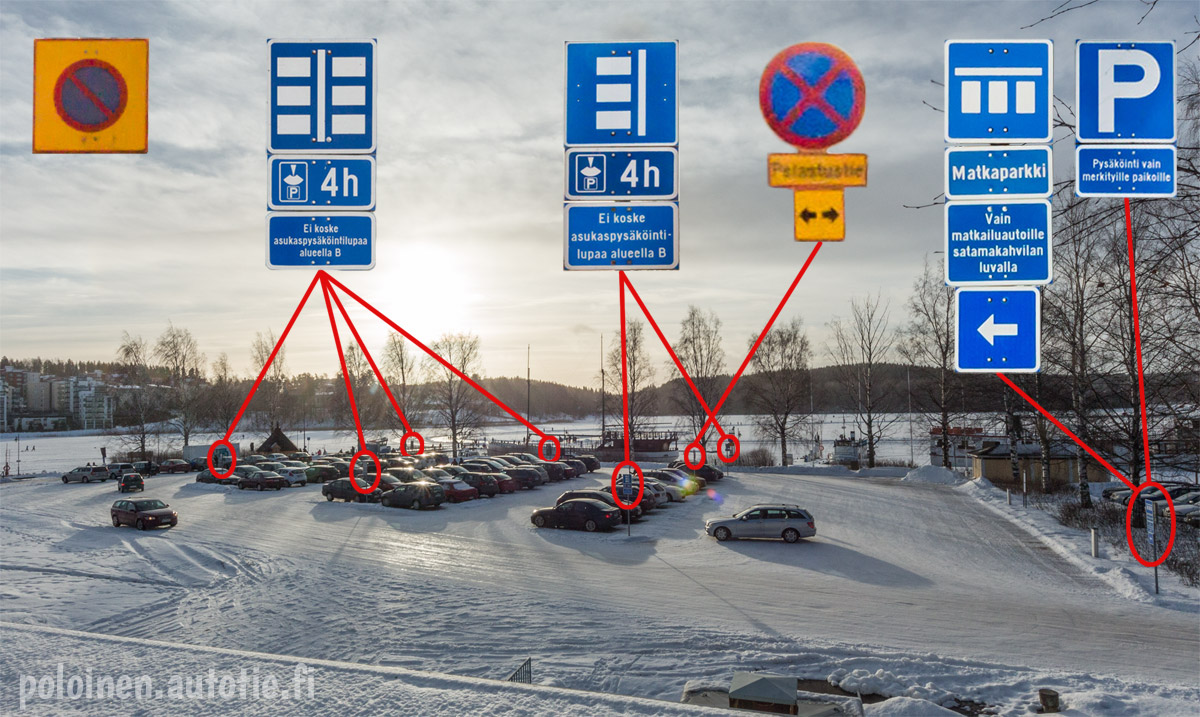 Pysäköinti Jyväskylän satamassa
