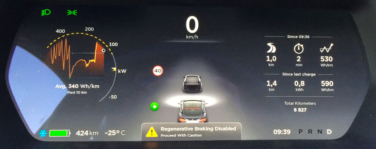 Less regen after full charge or in cold weather - without notice | Tesla