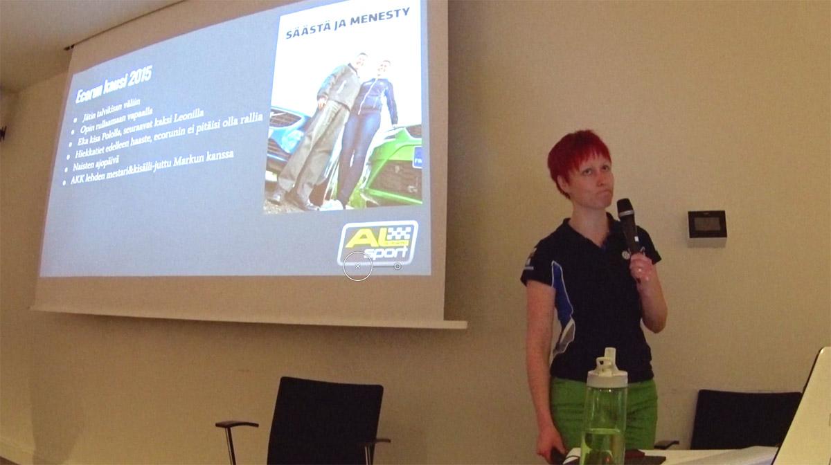 Ecorun ja autoslalom kilpaileminen