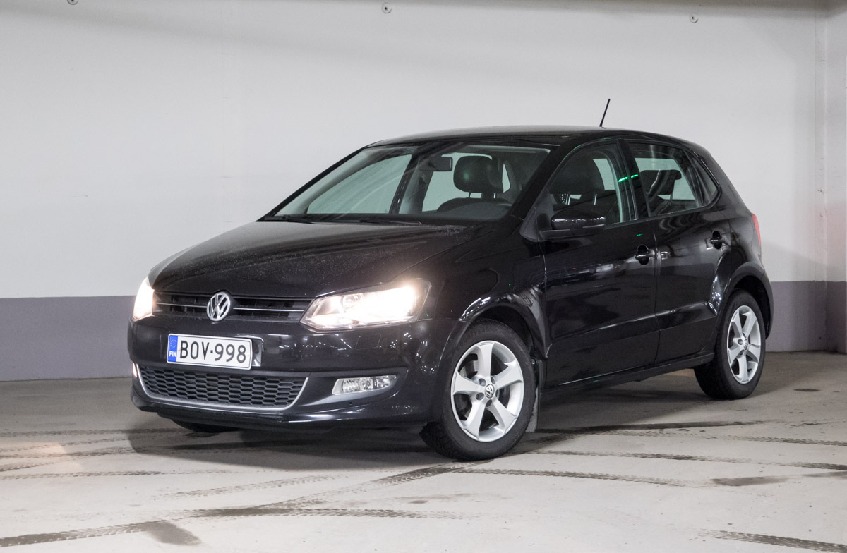 Koeajossa aito ja alkuperäinen Volkswagen Polo Junior