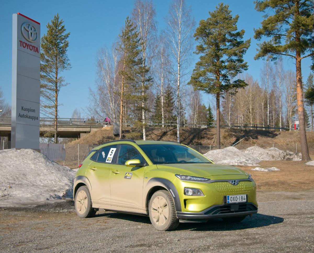 Taloudellisuusajoa sähköautolla - Kuopion Autokauppa EcoRun 6.4.2019