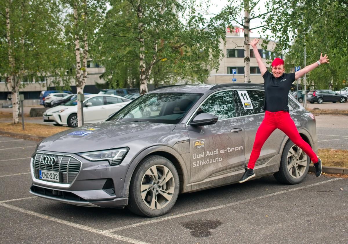 Miten pieni kulutus sähköauto Audi e-tron:illa on mahdollista saavuttaa? Suurajot EcoRun 11.8.2019