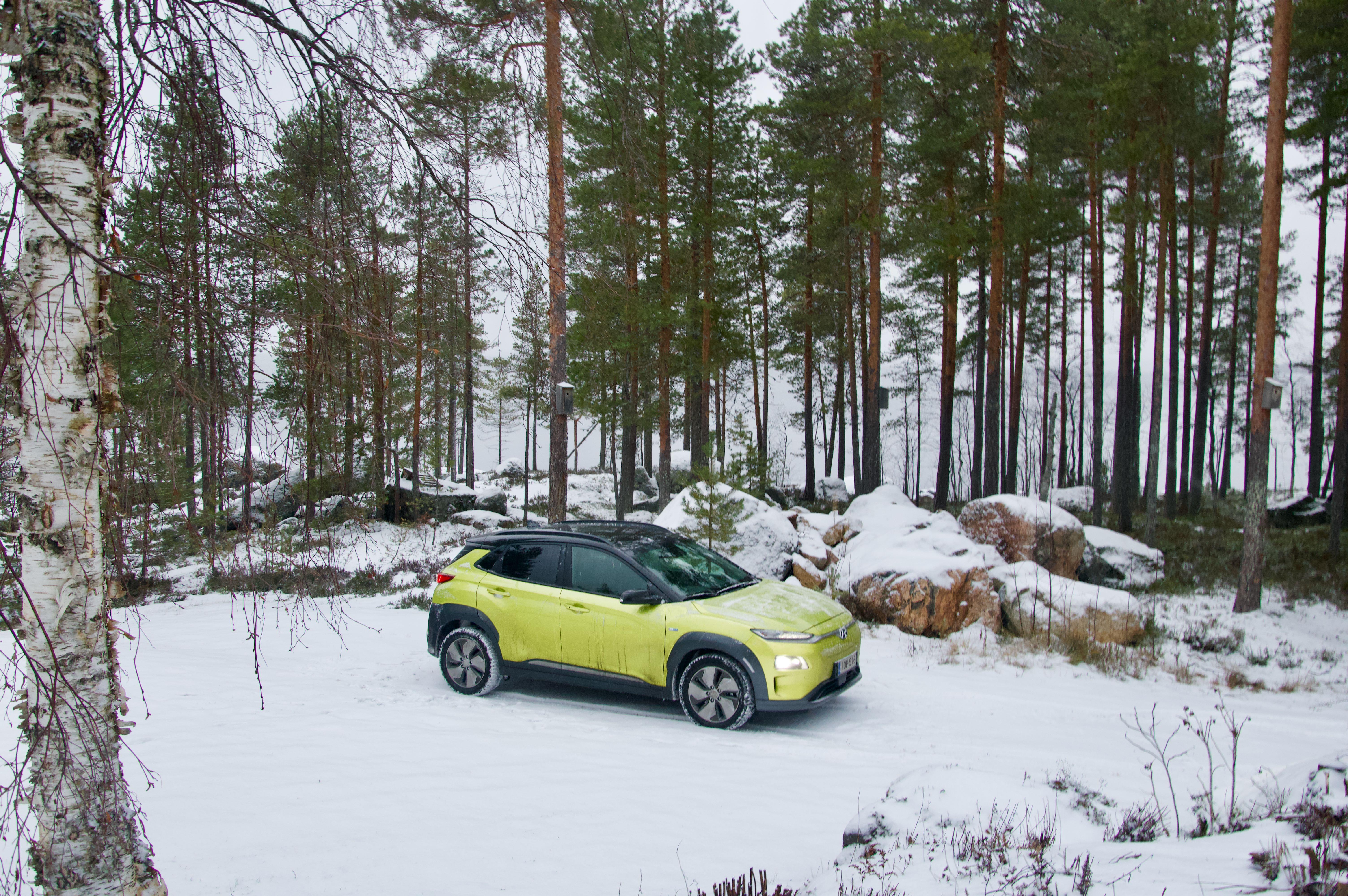 Hyundai Kona Electric 64kWh:lla 408 km mökkimatka Vantaalta Viitasaarelle