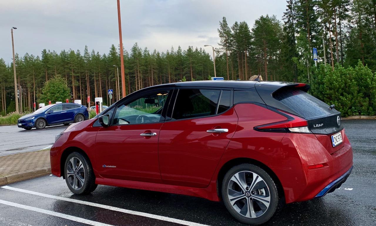 564 km mökkimatka Nissan Leaf 62 kWh sähköautolla -eikä yhtään latausta tien päällä ollessa