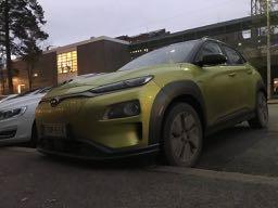 Sähköauto Konalla työkeikka Kangasala-Helsinki-Kangasala 340 km -ilman yhtään latausta