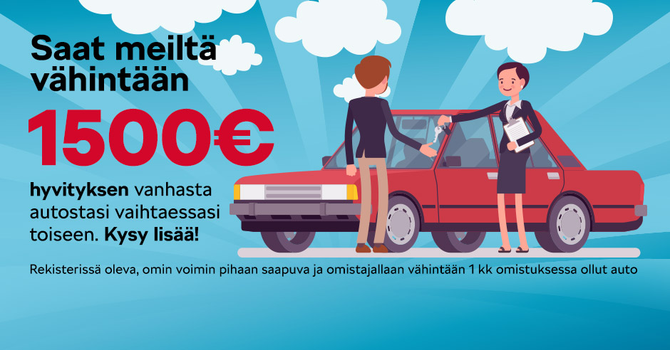 hyvitys autostasi vähintään 3000