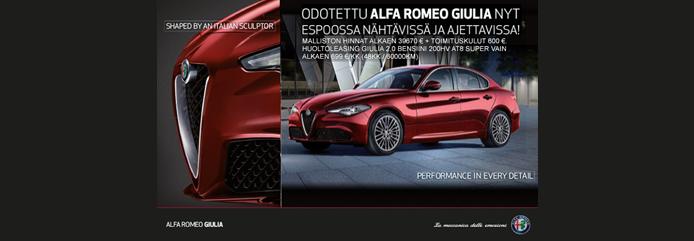 Koeaja Alfa Romeo Giulia meillä!