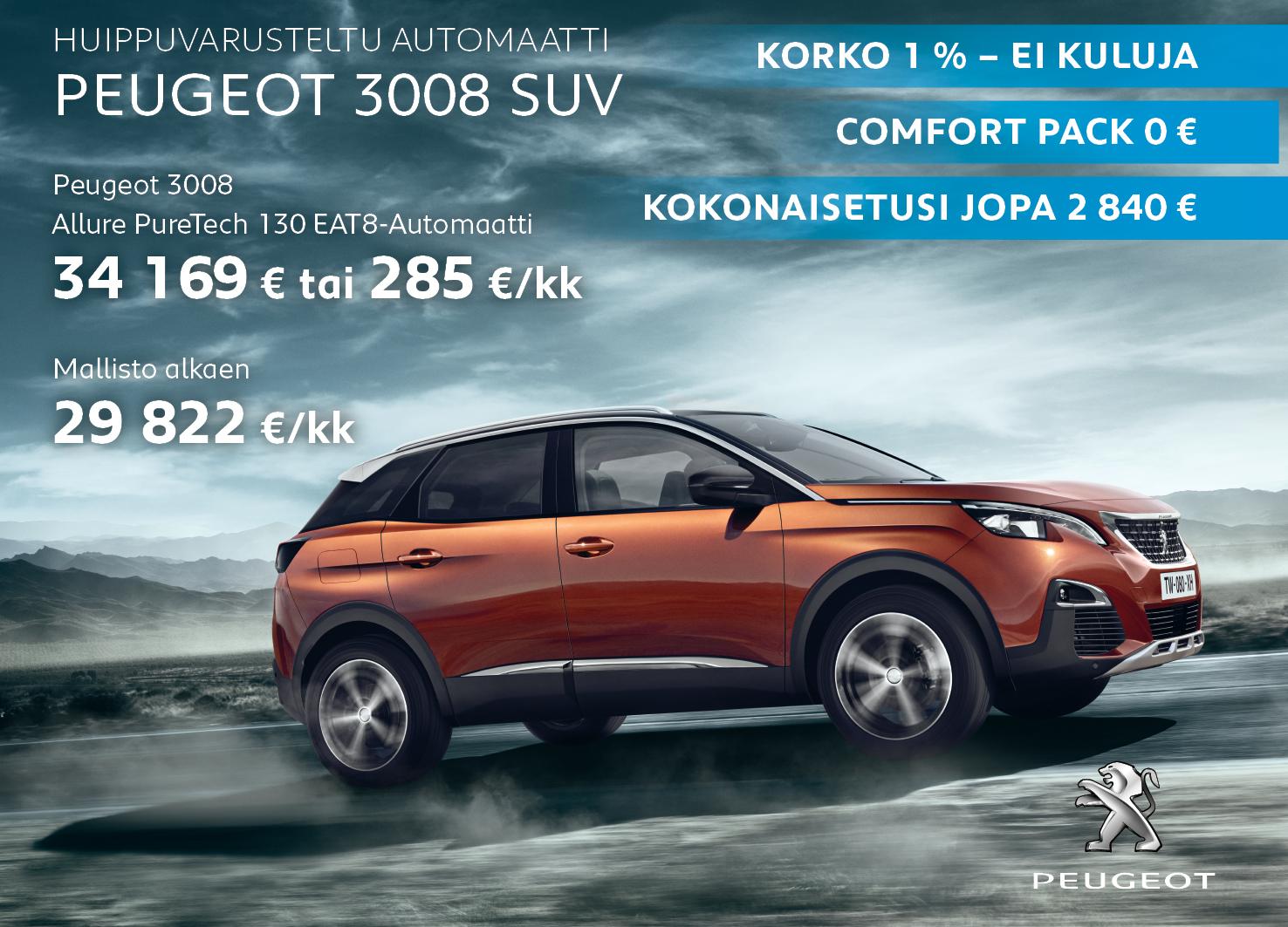 Peugeot Suv 3008 >> Peugeot 3008 Suv